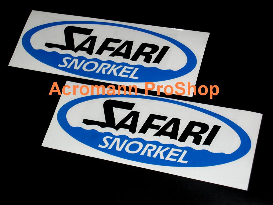 Safari Snorkel 6inch Decal x 2 pcs